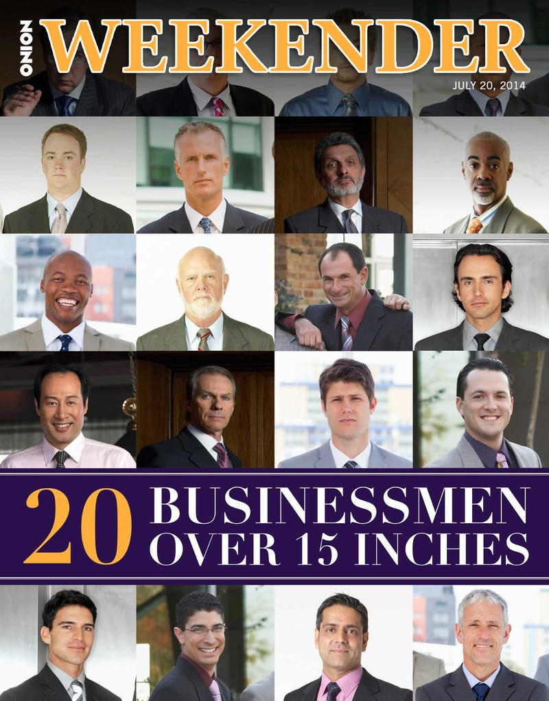Illustration for article titled 20 Businessmen Over 15 Inches