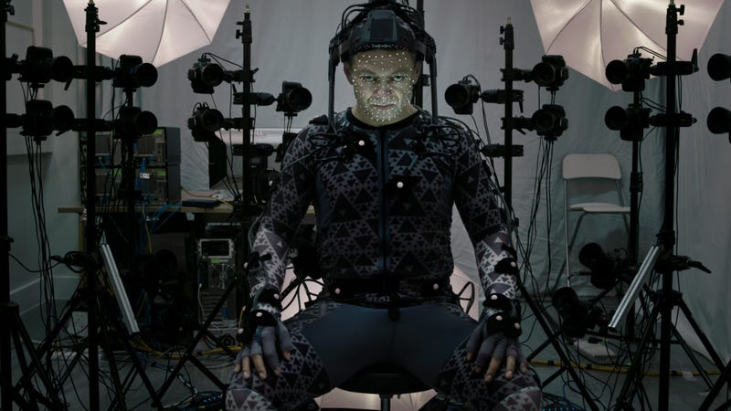 Andy Serkis using performance capture technology on the set of Star Wars: The Last Jedi | Image: StarWars.com