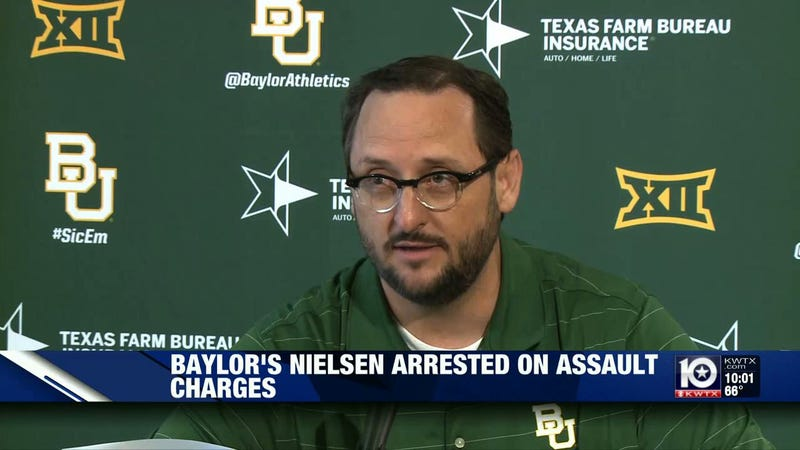 Baylor assistant athletic director Heath Nielsen charged with assaulting reporter