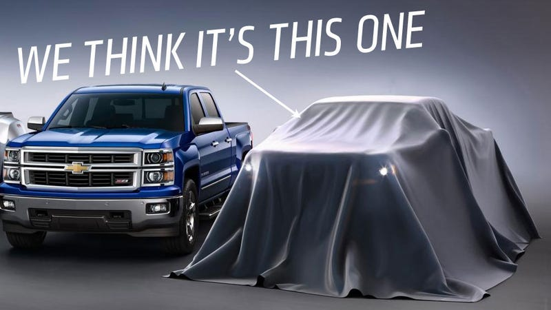 Illustration for article titled Chevy Will Take Sheet Off New Colorado Small Pickup At LA Auto Show