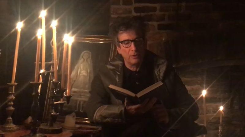Screenshot: The Raven By Edgar Allan Poe, Read By Neil Gaiman