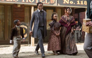 The Solomon Northup family as portrayed in the film 12 Years a SlaveFOX SEARCHLIGHT PICTURES