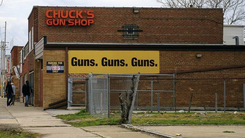 A gun store.