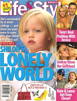 Illustration for article titled This Week In Tabloids: Shiloh Is Lonely, Heidi Is Pre-Engaged, Star Is Missing