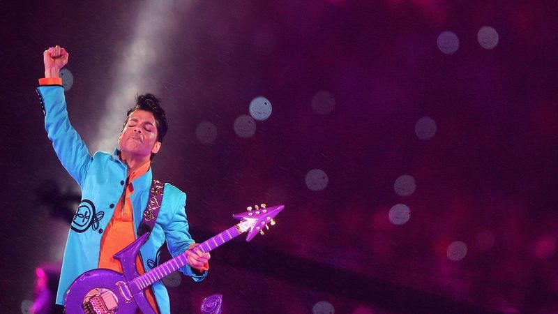 Prince at the Super Bowl in 2007