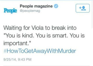 People magazine tweet Sept. 25, 2014, regarding Viola Davis' performance in premiere of How to Get Away With MurderTwitter