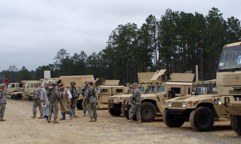 Fort Polk, Louisiana (image: AP)