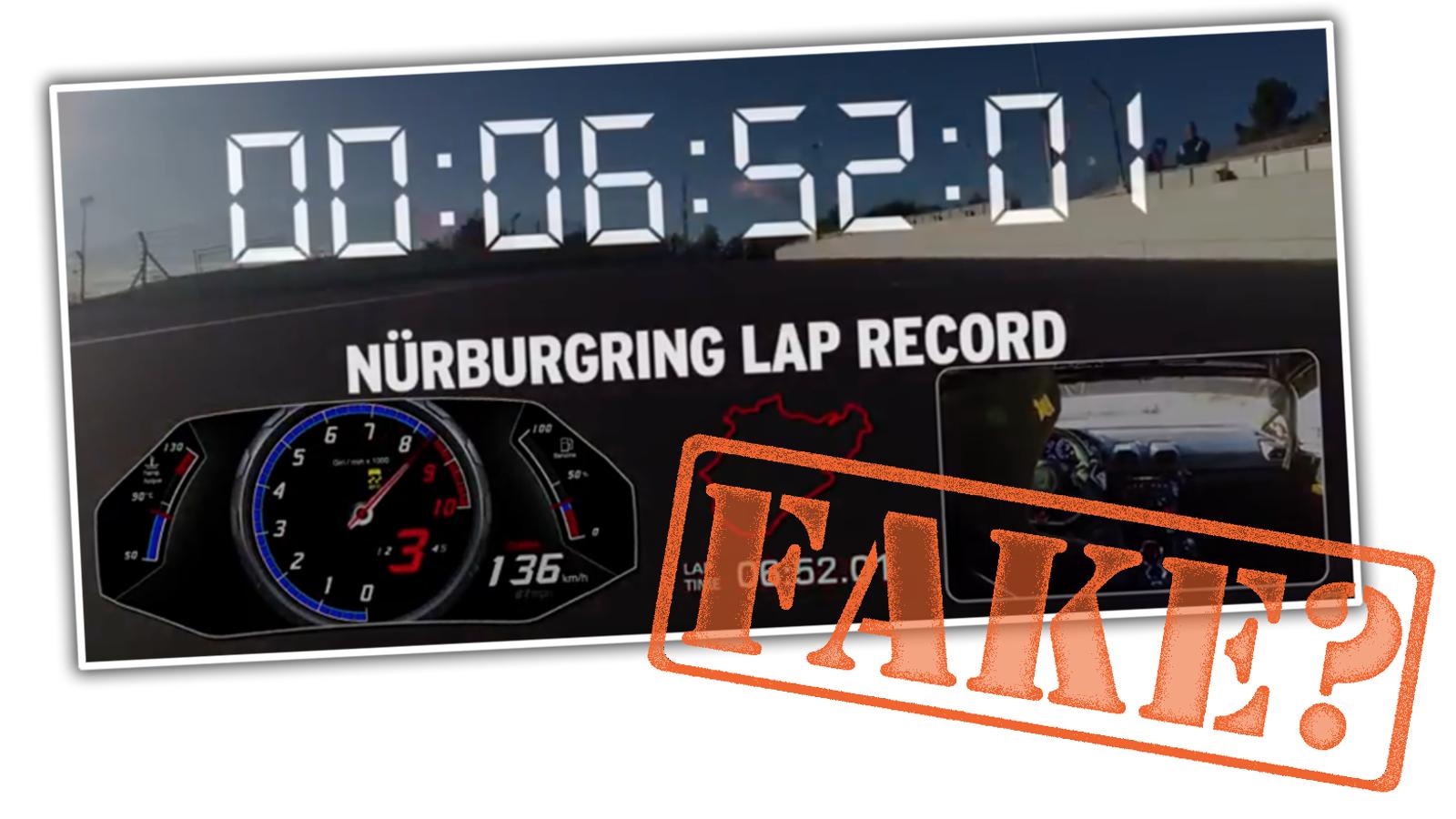 did lamborghini fake its record breaking n rburgring lap. Black Bedroom Furniture Sets. Home Design Ideas
