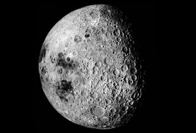 Imagen completa de la cara oculta tomada durante la misión Apolo 16