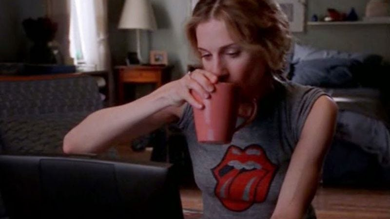 Carrie Bradshaw, tweeting rock star