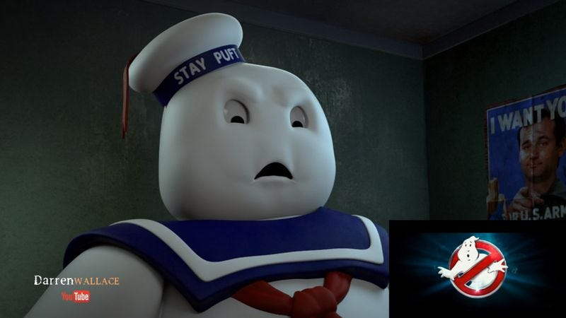 Illustration for article titled The Stay Puft Marshmallow Man weighs in on the new Ghostbusters trailer