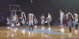 Men's basketball team at the University of North Carolina honoring Stuart ScottYouTube Screenshot