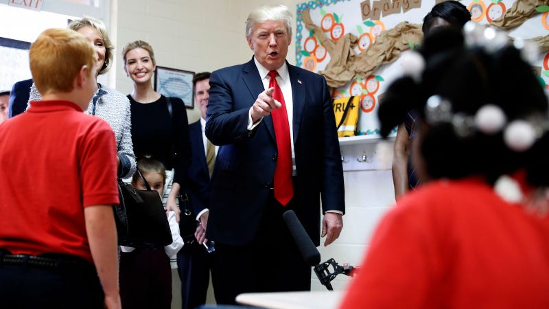 Donald Trump And Betsy Devos Visit Private School Devoted To