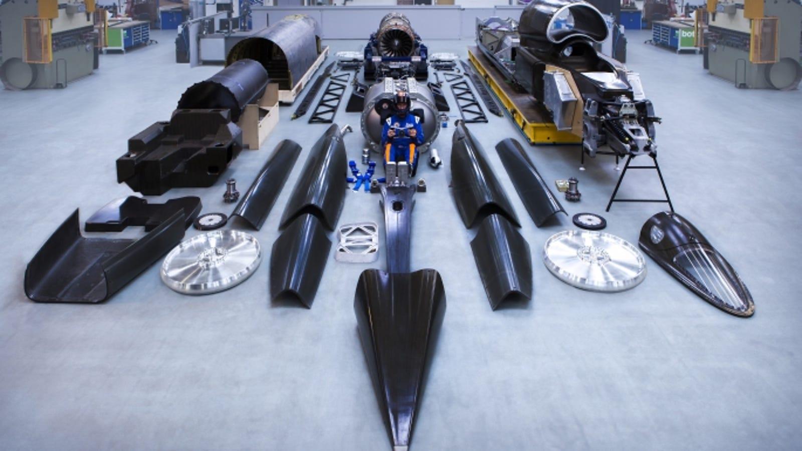 Todas las piezas del coche más rápido del planeta: 1.600 km/h