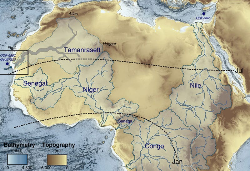 Illustration for article titled A Vast River Network Once Crisscrossed the Sahara