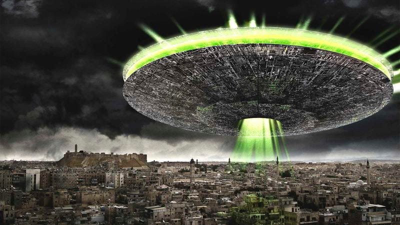 """Alien peacekeeping forces are currently being deployed to do what they say humanity """"should have done ages ago."""""""