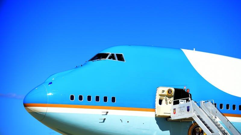 Donald Trump en el Air Force One. Imagen: Fuerza Aérea de Estados Unidos