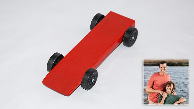 Illustration for article titled Sad: This Kid's Pinewood Derby Car Was Made Entirely By His Dad And It Still Sucks