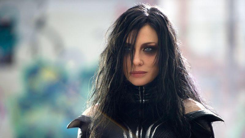 Cate Blanchett as Hela in Thor: Ragnarok.