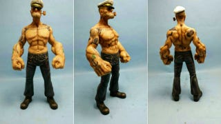 """Illustration for article titled Holy Crap, This """"Realistic"""" Popeye Figurine Is Terrifying"""
