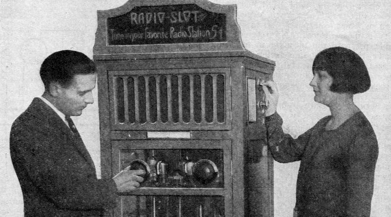 Illustration for article titled This Coin-Operated Radio Was Like a Vending Machine For Your Ears