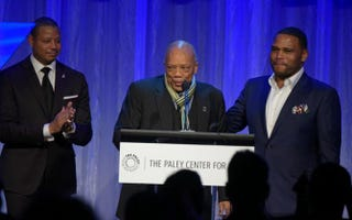 Terrence Howard, Quincy Jones and Anthony Anderson attend the Paley Center for Media's Hollywood Tribute to African-American Achievements in Television, presented by JPMorgan Chase & Co., on Oct. 26, 2015, at the Beverly Wilshire Hotel in Beverly Hills, Calif. Paley Center for Media