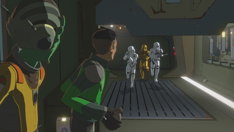 The First Order is on Kaz's tail in the new Star Wars resistance.