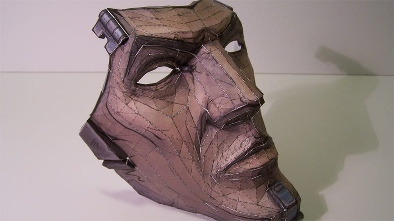 Illustration for article titled You Can Print Your Own Mask of Borderlands 2's Handsome Jack, Just In Time For Halloween