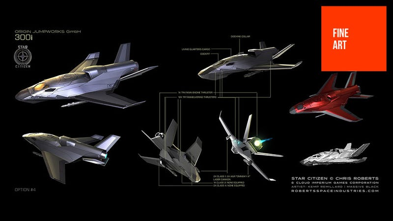 Illustration for article titled Badass 90's Starfighter Design Lives On With Star Citizen