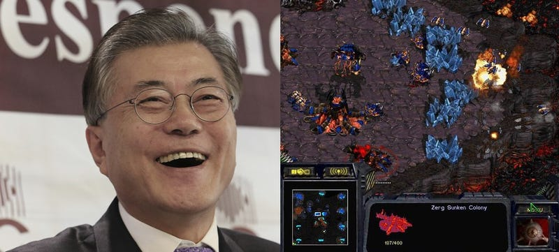 Imágenes: Izquierda - Ahn Young-Joon (AP Images). Derecha - StarCraft.