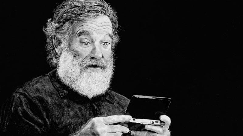 robin williams tribute drawn using a nintendo wii u is a