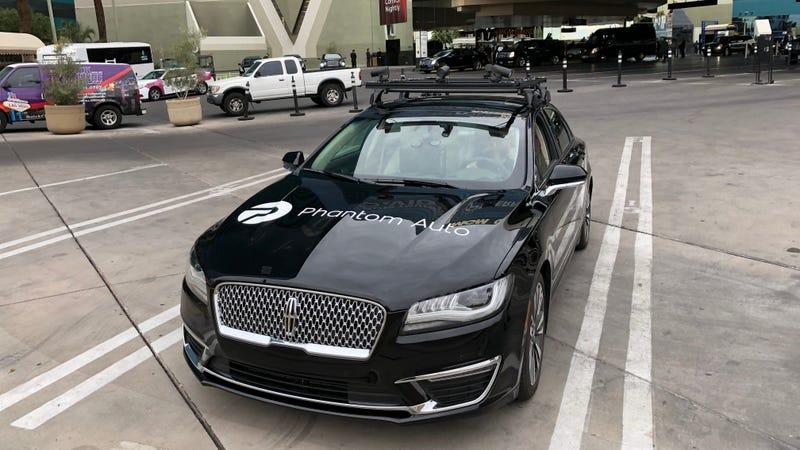 One of Phantom Auto's tele-operated cars