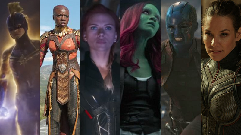 Some of the women of Marvel.