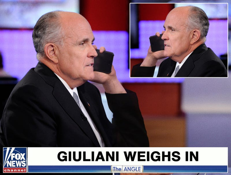 Illustration for article titled Rudy Giuliani Calls In To Talk Show He Already On To Deny What He Just Said