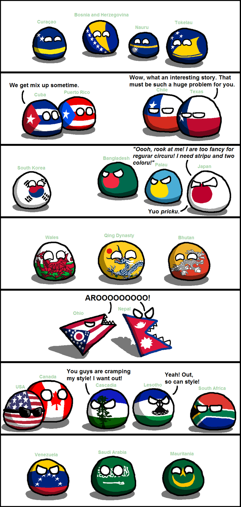 Illustration for article titled Daily Polandball: Flag Buddies