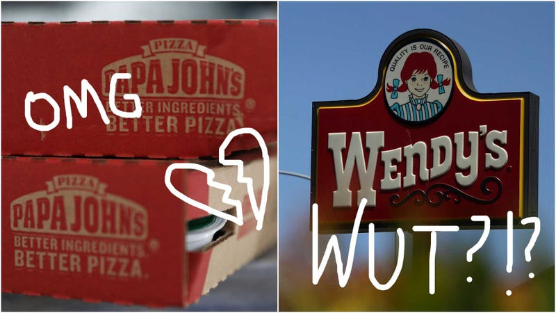 Illustration for article titled OMG Papa John's and Wendy's were TOTALLY in merger talks