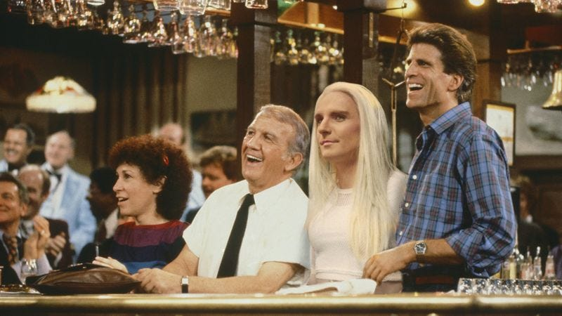 Illustration for article titled Trans People Like Me Aren't Used To Seeing Ourselves On TV, So It Means A Lot That I've Started Showing Up In Old 'Cheers' Episodes