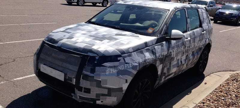 Illustration for article titled Is This Spied Test Mule A New Land Rover... Or The Jaguar SUV?