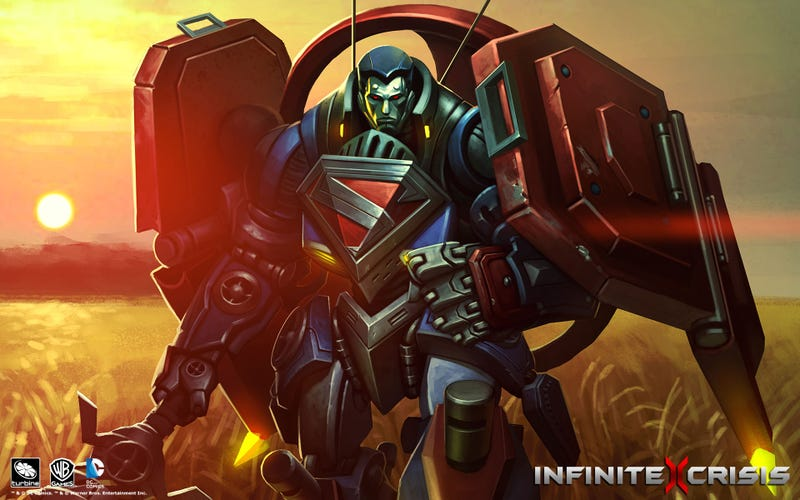 Illustration for article titled Mecha Superman And More Infinite Crisis Wallpapers