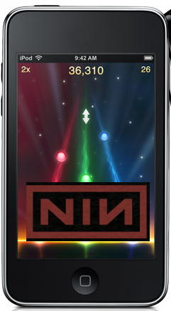 Illustration for article titled Nine Inch Nails Version of Tap Tap Revenge Coming to iTunes