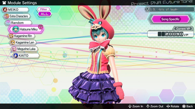 Illustration for article titled Project Diva Future Tone's Second DLC Gives Us 'Lots Of Laugh'