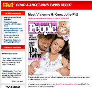 Illustration for article titled Angelina & Brad's Twins: Revealed!!!