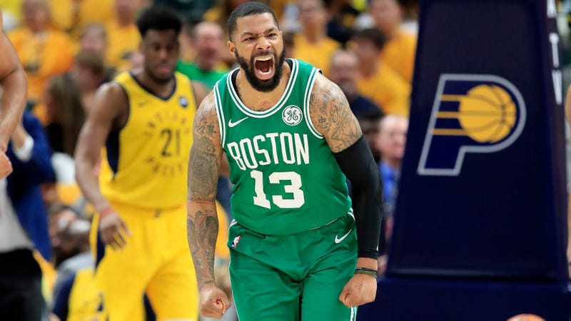 Illustration for article titled Marcus Morris Wipes Out Thousands Of Acres Of Transaction Market Confidence, Dumps Spurs For Knicks