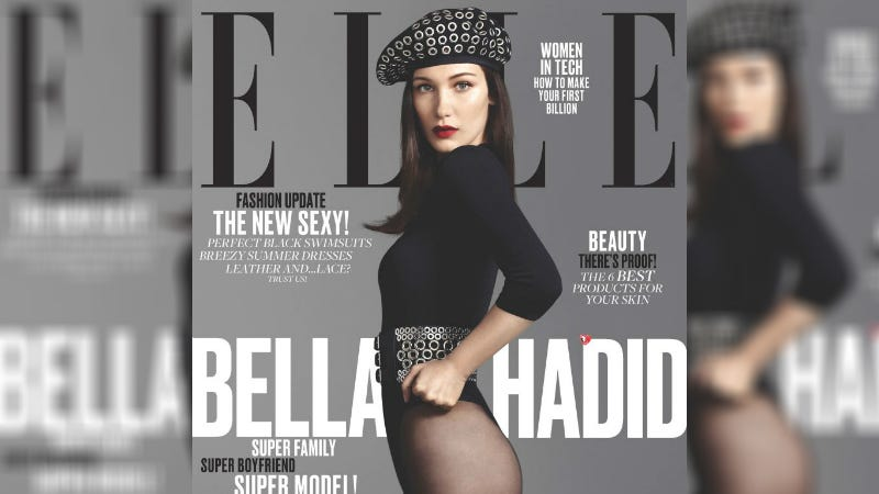 Illustration for article titled Bella Hadid Follows Up Vogue Turkey Cover With Elle