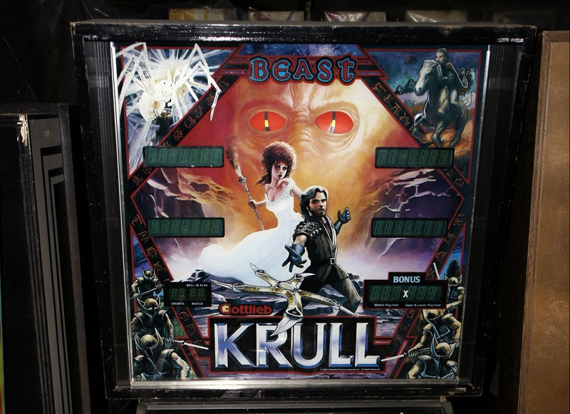 Illustration for article titled Krull Pinball Table