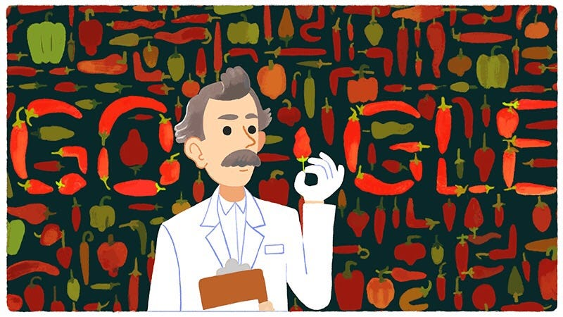 Illustration for article titled It's Wilbur Scoville's 151st birthday