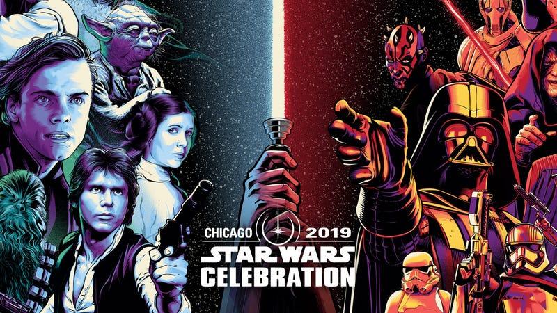 The key art for Star Wars Celebration Chicago.