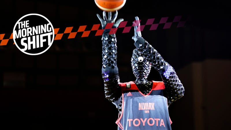 Toyota's basketball-playing robot CUE.