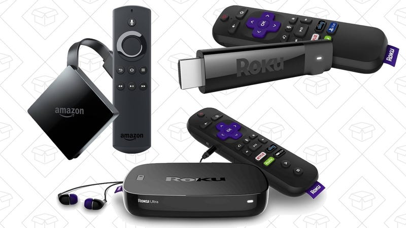 Refurb Roku Ultra | $72 | AmazonRefurb Roku Streaming Stick+ | $48 | AmazonRefurb Roku Streaming Stick | $32 | AmazonRefurb Fire TV 4K | $45 | Amazon