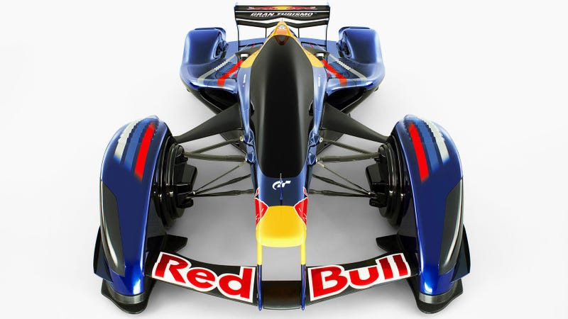The Red Bull x2010 from Gran Turismo, which could preview this thing.